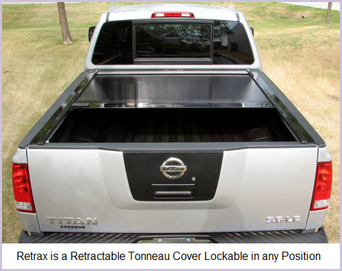 Retrax Bed Cover a high strength aluminum tonneau cover or sometimes called a hard truck lid.