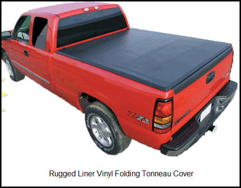 Rugged Cover Folding Tonneau Cover in Black Vinyl