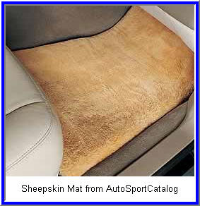 Sheepskin Car Floor Mats from Comfy