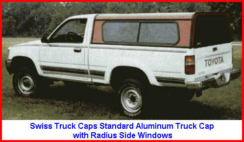 Swiss Truck Caps Standard Aluminum Truck Cap with Radius Side Windows