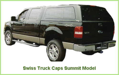 Swiss Truck Caps Summit Model Fiberglass Truck Cap