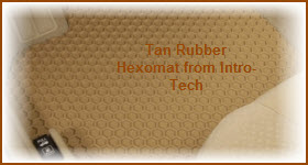 Tan Rubber Hexomat Car Mat from Intro-Tech