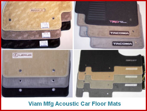 Viam Manufacturing Acoustic Car Floor Mats
