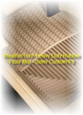 WeatherTech Semi Custom Fit Heavy Duty Rubber Truck and Car Floor Mat is just great floor protection!