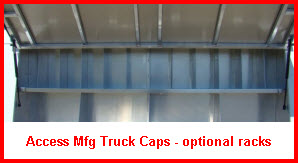 Access Manufacturing Truck Cap with inside shelves
