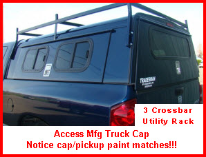 Access Manufacturing Truck Cap with 3 bar rack