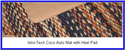 IntroTech Coco Auto Mat with Heel Pad wears like iron, but doesn't smell like a coconut! It's natural and biodegradable atlernative to rubber or carpeted Car Floor Mats.