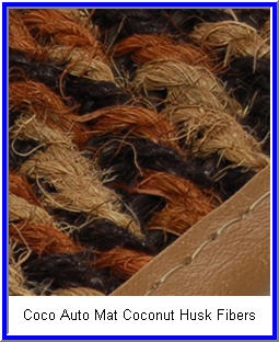 IntroTech Coco Mat Car Floor Mat is made from coconut husk fibers.
