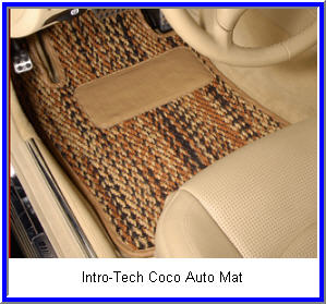 Intro Tech CocoMat Automobile Mats use  Coconut fibers and is an environmentally safe alternative to rubber and carpeted car floor mats.