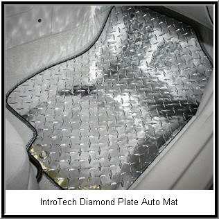 IntroTech Diamond Plate Car Floor Mat.