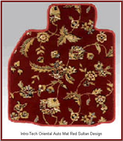 IntroTech Oriental Car Floor Mats in the Oriental Red Sultan design.