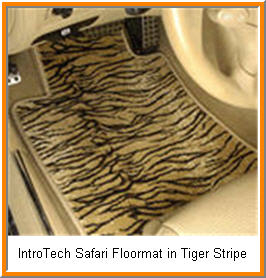 IntroTech's Safari Model Custom Car Mats in a Jungle Theme. Just like you're on a safari with Jaguar and other Animals.