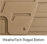 The ridged bottom design of a WeatherTech Floor Liner.