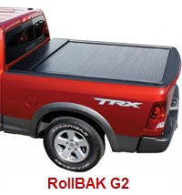 The BAK RollBAK G2 is a retractable tonneau cover made of high strength, aircraft grade, powder coated aluminum slats. It'll hold up to 500 lbs on top.