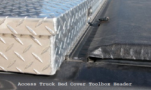 access tonneau cover toolbox and header seals the work area on your pickup
