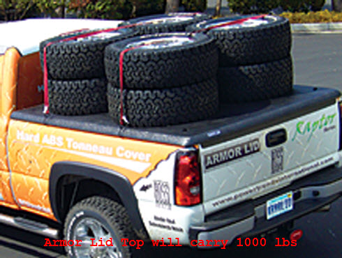 Armor Lid Hard Truck Bed Cover Carries 1000 Lbs