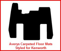 Averys Carpeted Truck Floor Mats are custom designed for Kenworth, Mack, Freightliner and most Class 8 Big Rigs.