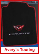 Avery's Touring Mat is an economical plush carpeted car floor mat with edging, non-slip backing and options for colors, logos, heelpads and embroidery.