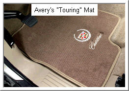 Averys Touring Car Mat with nylon mesh cloth tape edging.