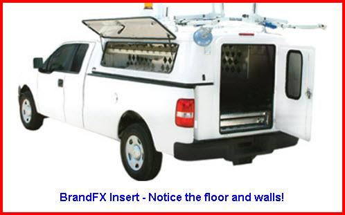 BrandFX Insert Topper. A composite fiberglass truck cap.