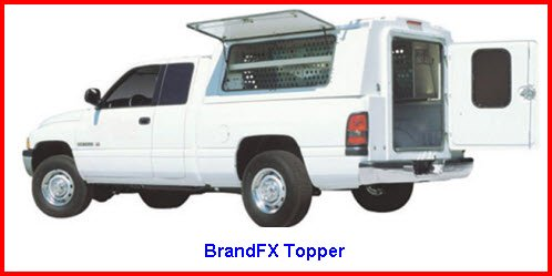 BrandFX Topper. Truck Caps made of a composite fiberglass.