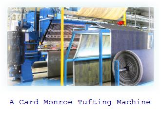 Card Monroe Tufting Machine. A carpet tufter to make car carpeting and mats.