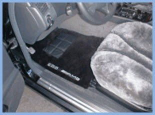 Comfy Sheepskin Car Mats are made to wiggle your toes in, just not while you're driving the car. In lots of colors to match your car interior and lend an air of luxury and sophistication.