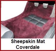 Coverdale Sheepskin Mats are a luxurious and warm way to protect your feet in your Bentley, Daimler, Jaguar, Maybach, Mercedes or Rolls Royce.