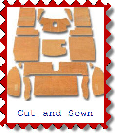Auto carpet kit cut and sewn. Replacement carpeting.