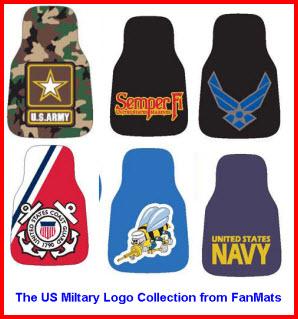 FanMats Logo Mats - USMC, Army, Navy, Air Force, SeaBees, Coast Guard