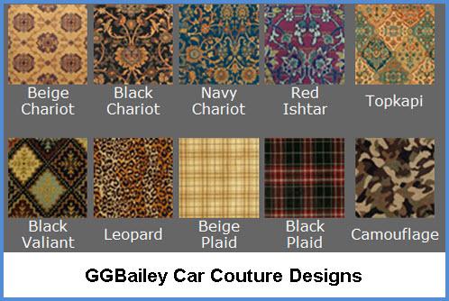 GGBailey Car Mats Car Couture Designs