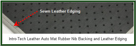 IntroTech Luxurious Leather Car Floor Mat. Leather smell and feel and warmth. Take this car floor mat out on a date!