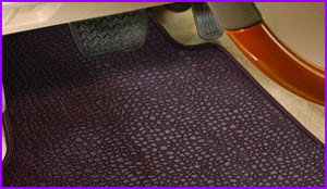 IntroTech Leather Car Mats in virgin condition really add a nice touch and smell to your luxury vehicle.