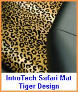Intro-Tech Safari Car Floor Mat Tiger Design