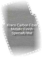 Kraco Carbon Fiber Metallic car mat is a high tech way to protect your cars carpeting.