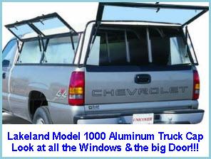 Lakeland Model 1000 Aluminum Truck Cap