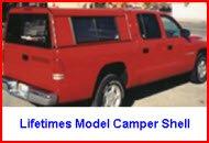 Lifetime Camper Shells Lifetimes Model Aluminum Truck Cap or Camper Shell