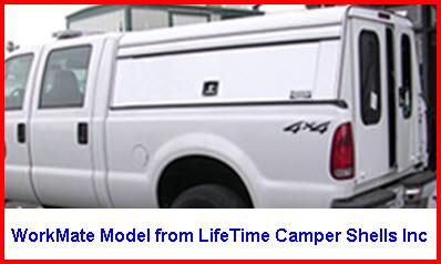 Lifetime Camper Shells Inc Workmate Model Aluminum Truck Cap