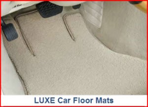 Lloyd Mats LUXE carpeted car floor mat. Super plush, many colors and logos, embroidery, edging, non-slip backing.