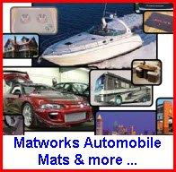 Matworks Logo Mats for Boats, Golf Cars, Airplanes, Motorhomes, Horses