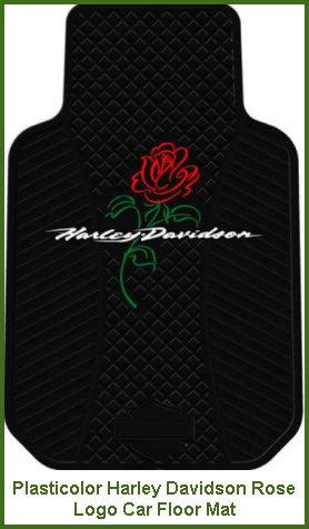 Plasticolor Harley Davidson Rose Logo Car Floor Mat