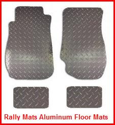 Rally Mats Diamond Plate Aluminum Car and Truck Floor Mats