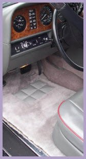 SuperLamb Inc. Sheepskin Car Mats for a sophisticated and luxurious look and feel for your very expensive horseless carriage.