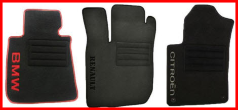 Texcarmats Premium Line of Carpeted Car Floor Mats with Embroidery Option for BMW, Renault and Citroen.