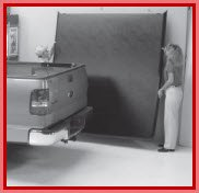 Undercover Truck Bed Cover hangs easily on the wall for quick storage