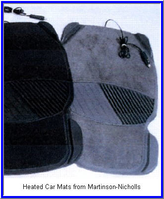 Heated Car Mat from Martinson Nicholls makes a great foot warmer for your car.