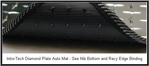 IntroTech Diamond Plate Car Floor Mat