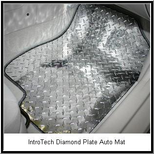 IntroTech Diamond Plate Car Floor Mat.