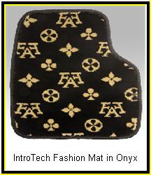 IntroTech Fashion Style Onyx Custom Car Mats